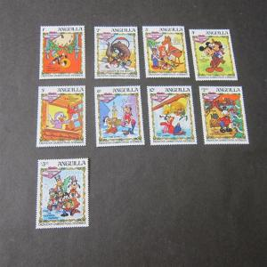 Anguilla 1983 Disney Sc 547-555 set of 9 MNH