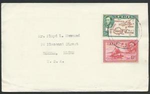 FIJI 1947 cover to USA, ex Suva............................................25768