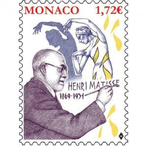 MONACO / 2019 - 150TH ANNI. OF THE BIRTH OF HENRI MATISSE (Art, Paint), MNH