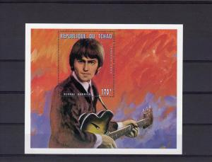Chad 1996  SS George Harrison (The Beatle) De-luxe mnh perf.