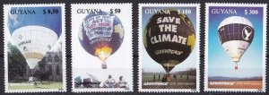 Guyana 1996 Greenpeace Baloons Set MNH**