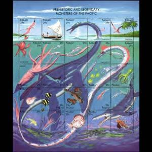 PALAU 1993 - Scott# 318 Sheet-Sea Dinos. NH