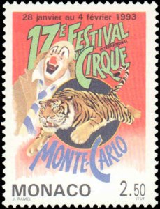 Monaco #1842, Complete Set, 1993, Circus, Never Hinged
