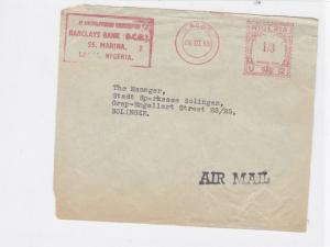 lagos 1958 nigeria stamp cover front  ref 10084