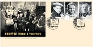 Poland 2016 FDC Stamps Polish Actors and Actresses Cinema Movie Theatre