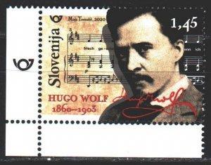 Slovenia. 2020. 1401. Hugo Wolf, composer. MNH.