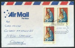 AUSTRALIA 1994 cover to Germany - nice franking - Sydney Pictorial pmk.....14700
