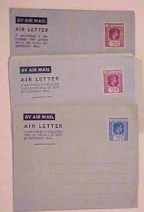FIJI 3 DIFF. AIR LETTERS MINT BEFORE 1953