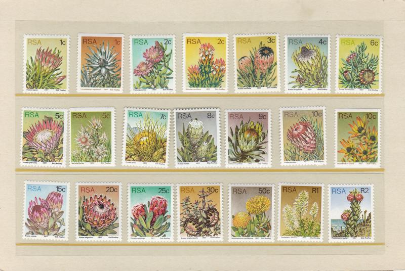 South Africa 1972 Proteas National Flower of South Africa Complete (17)+Perf 14