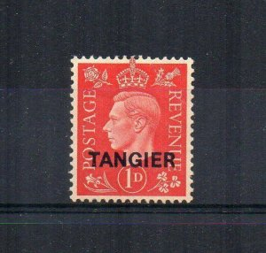 Morocco Agencies - Tangier 1937 1d GB opt MH