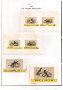 SCOTLAND - STAFFA - 1982 - Birds #5 - Perf, Imp 2v, Souv, D/L Sheets - MLH