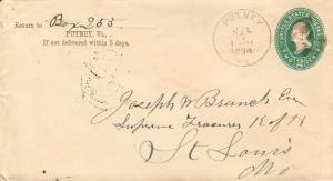 United States Vermont Putney 1894 segmented cork  Postal Stationery Envelope ...