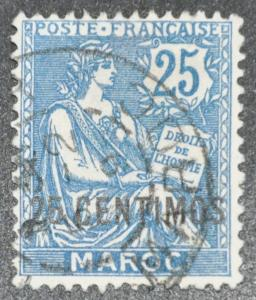 DYNAMITE Stamps: French Morocco Scott #18 – USED