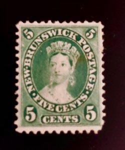 New Brunswick Scott 8 5c unused no gum CV $22