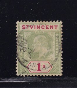 St Vincent Scott # 77 VF used neat cancel nice color scv $ 65 ! see pic !