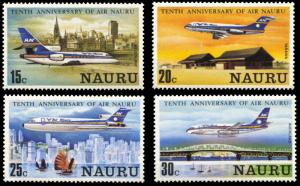 Nauru 210-213, MNH, Air Nauru