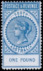 South Australia Scott 85 (1886) Mint H VF, CV $550.00 M