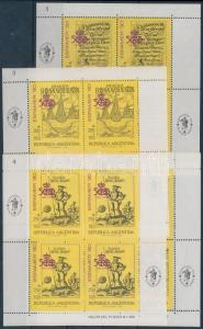 Argentina stamp Stamp Exhibition mini sheet set 1989 MNH Mi 1991-1994 WS179169