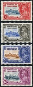Bechuanaland SG111/3 1935 Silver Jubilee Set of 4 M/M