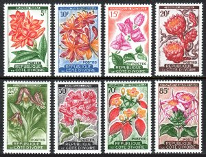 Ivory Coast 183-190, MNH. Various Local Plants and Orchids, 1961-62