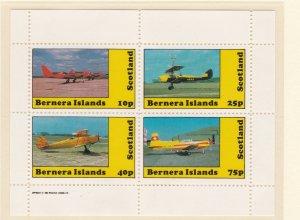 Bernera Islands, Airplanes, Sheet of 4 and 2 souvenir Sheets, NH