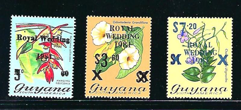 Guyana Scott #331, 334-5 Unused, never hinged