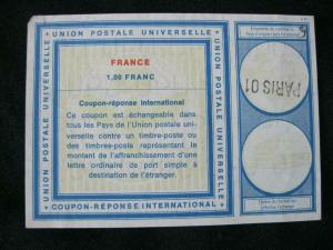 FRANCE INTERNATIONAL REPLY COUPON