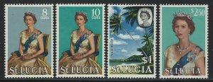 St Lucia 1964 Elizabeth Definitive set Sc# 182-95 NH