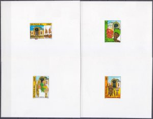 2001 Senegal 1928/Bb+1931/Bb Lux Masks and architecture of Senegal