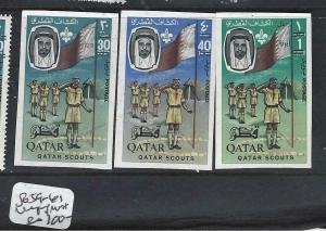 QATAR   (P116BB)    SCOUTS     SG 59-61  IMPERF     MNH