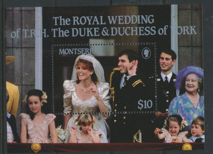 Montserrat    SG  MS695  SC# 617 Royal Wedding  Prince Andrew 1986