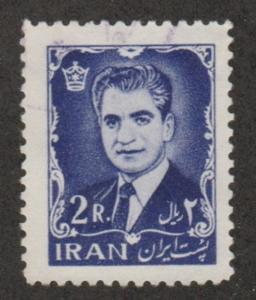 Persian stamp, scott# 1214, used, 2r violet blue, Mohammad Reza Shah, # Aoo84