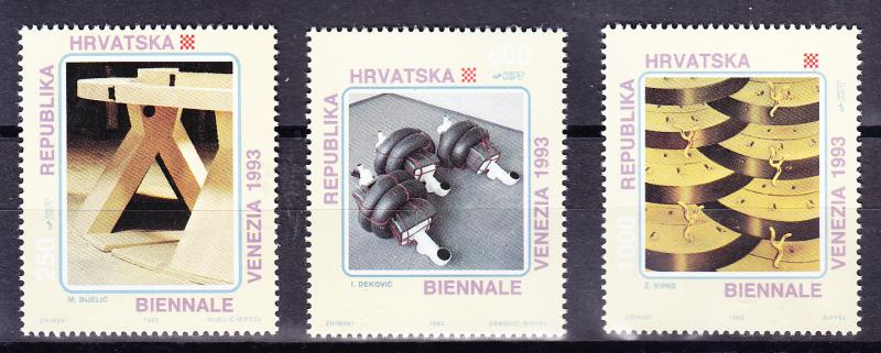 Croatia 1993 International ART complete (3)  VF/NH(**)