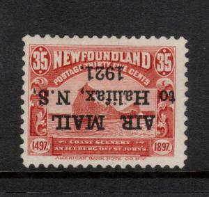 Newfoundland #C3c Very Fine Mint Inverted Overprint & Period After 1921 *Cert.*