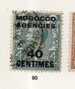 Morocco Agencies 1920s-30s Early Issue Fine Used 40c. Optd Surcharged NW-169079
