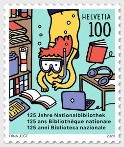 Switzerland 2020 125 Years National Library mint**