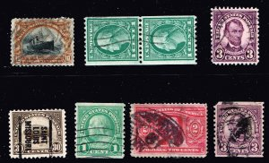 US STAMP 20TH US USED STAMPS COLLECTION LOT  #1