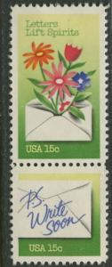 USA - Scott 1807-08 - Letter Writing Week -1980- MLH - 2 X 15c stamp