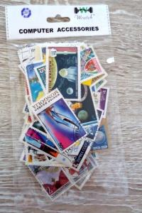 128 Space Stamps VG condition world-wide