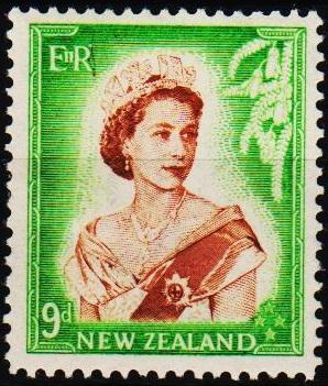 New Zealand. 1953 9d S.G.731 Mounted Mint