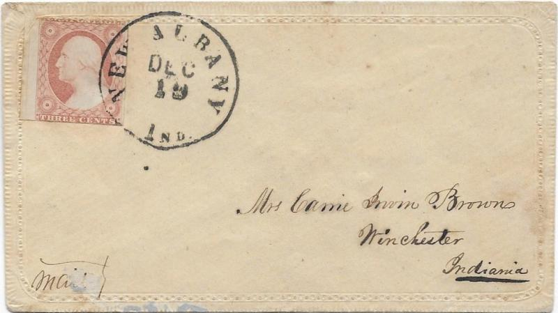 Cover (Fancy) Sc.11A cv. @ $15.00 Fancy Writing, Stamp on Left, Face Free Cxl