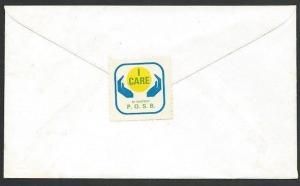 NEW ZEALAND 1974 cover PO Savings Bank 'I Care cinderella on back.........49957