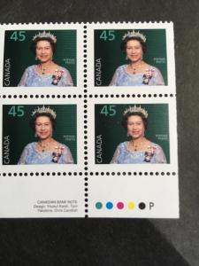 Canada USC#1360as Mint CBN-P Imprint Block of Four Ex Bklt. VF-NH Cat. $6,
