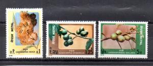 Nepal 252-254 MNH