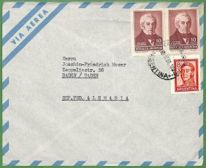 98790 - ARGENTINA - POSTAL HISTORY -   Airmail COVER to GERMANY  1967