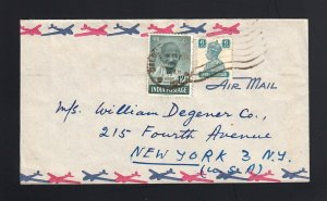 INDIA: 1948 Cover to US with 12 Annas GANDHI Issue