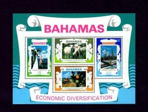 BAHAMAS -1975 - ECONOMIC DIVERSIFICATION - SHEEP - FISHING ++ MINT MNH S/SHEET!