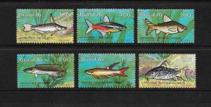 FISH - Brazil #1460-1465  mnh