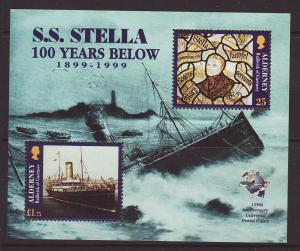 1999 Alderney SS Stella M/S U/Mint SGMSA124