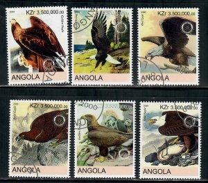 Angola Used Birds / Eagles complete set CTO